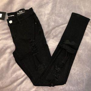 Fashion Nova Skinny Distressed Ankle Jeans